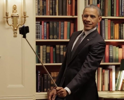 Obama selfie stick 3